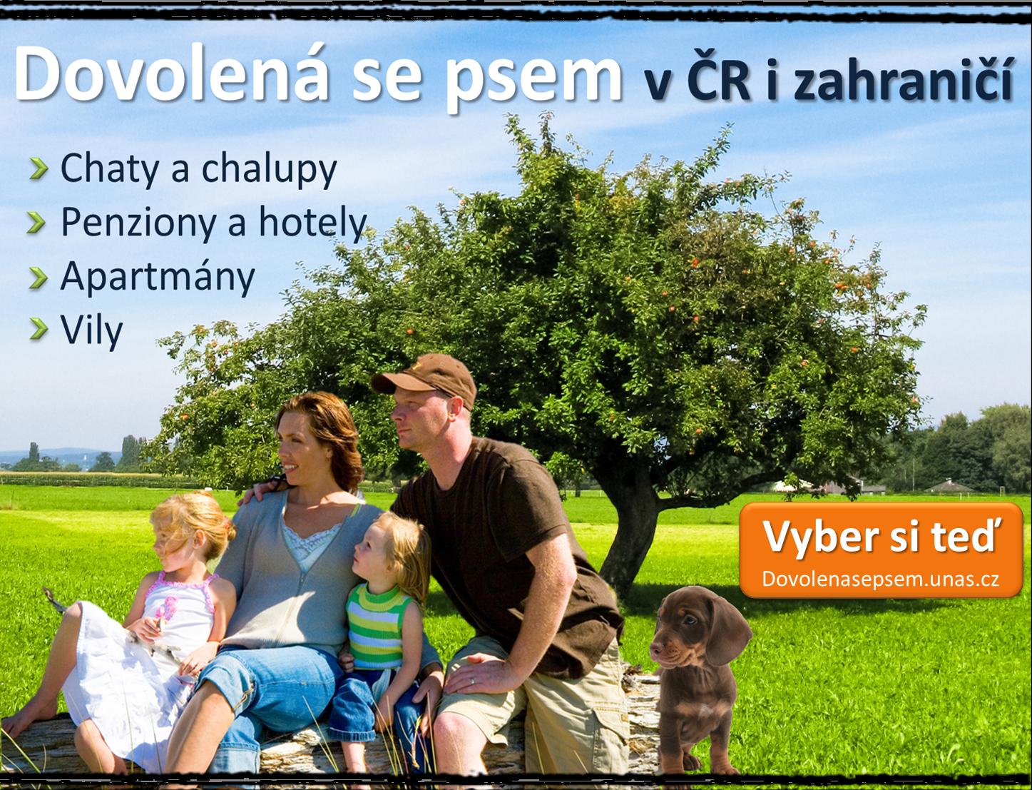 Dovolená se psem v ČR, SR, Itálii, Chorvatsku... Last minute slevy na ubytování. Levné chaty a chalupy